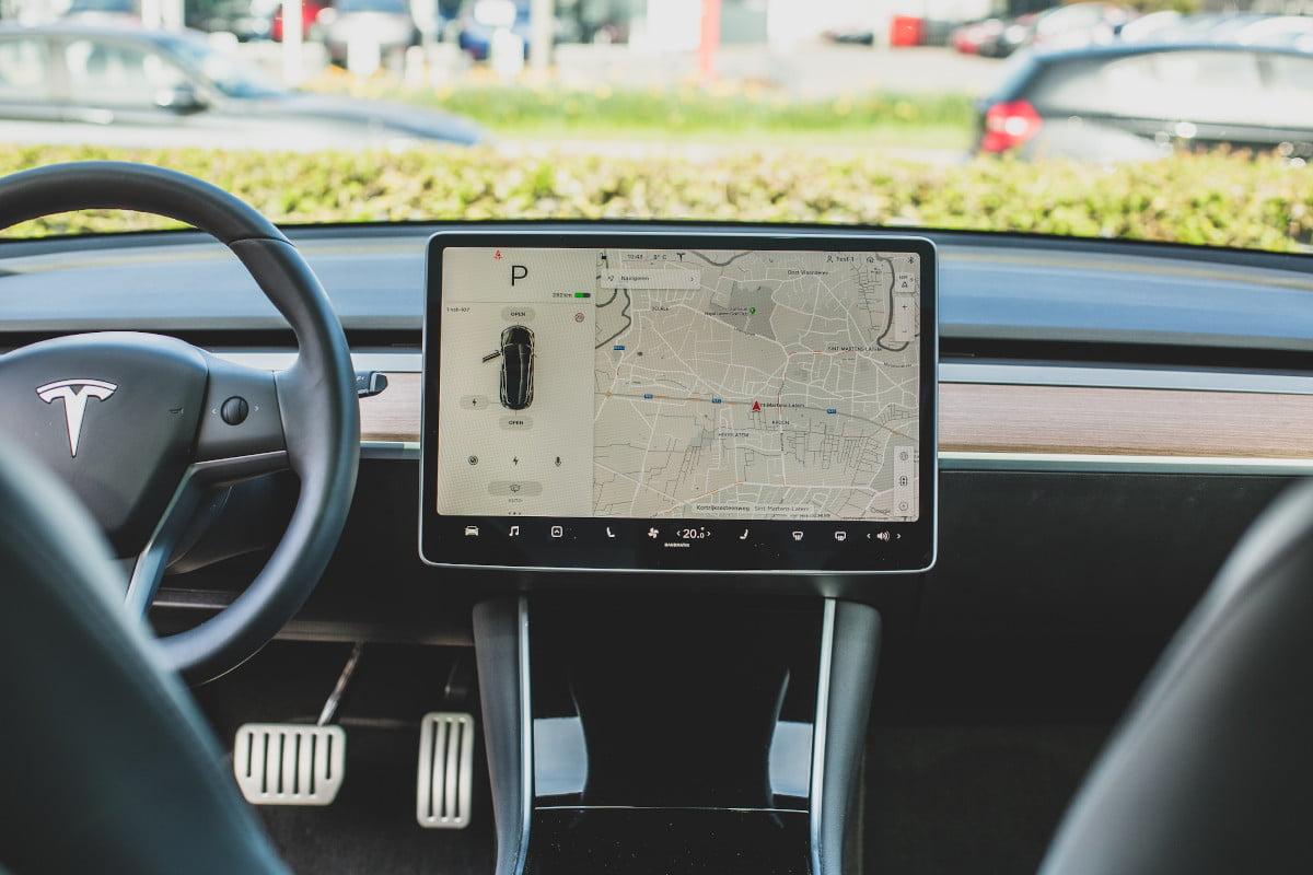Model 3 scherm