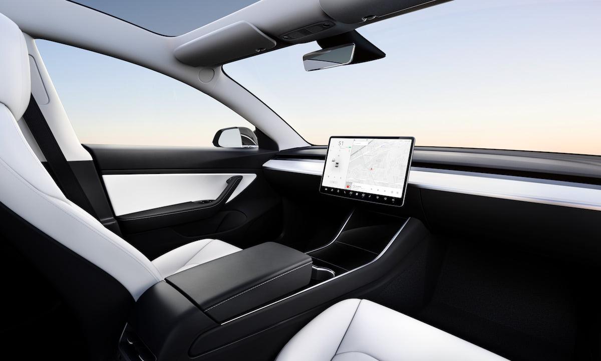Model 3 Interior - No Wheel